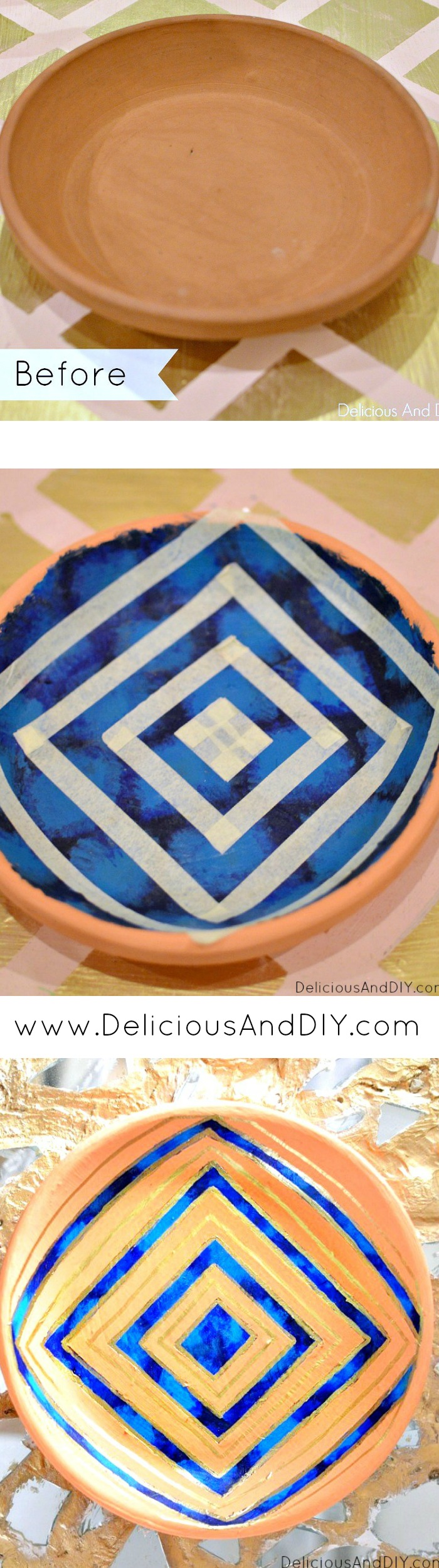 Hand-Painted-Bowl-Makeover- Delicious And DIY