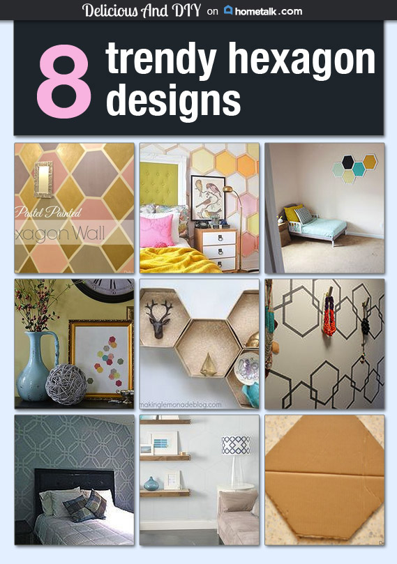 Hexagon Wall Ideas- Delicious And DIY