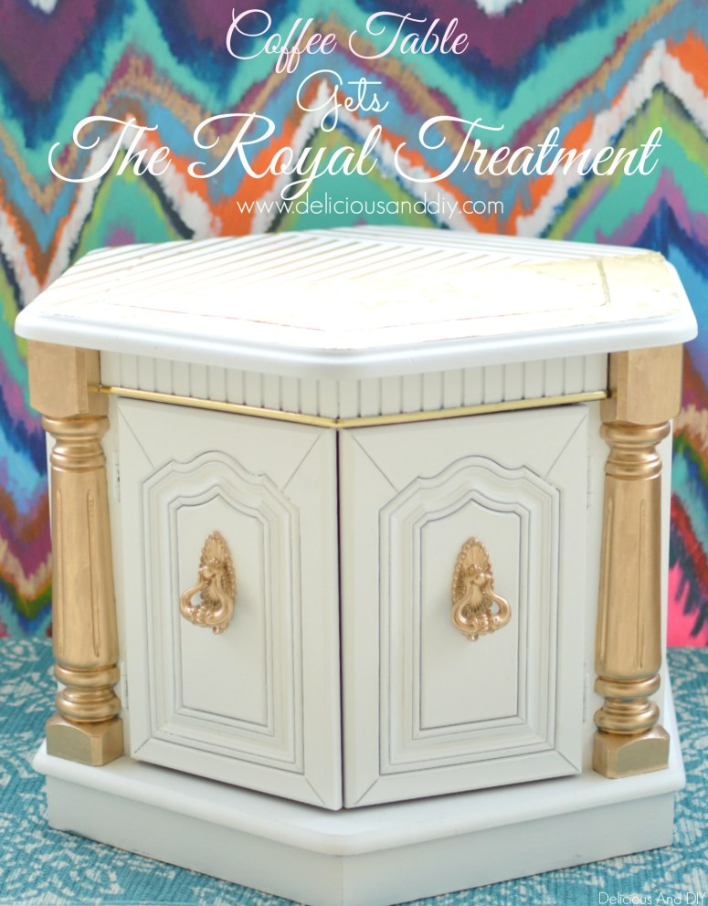 Coffee Table Gets The Royal Treatment- Delicious And DIY