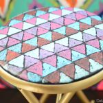 Mod Triangle Folding Stool Makeover