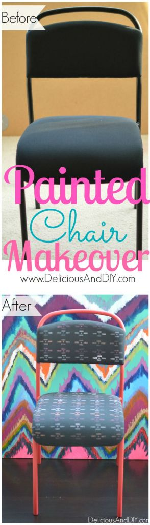 Painted Chair Makeover - Delicious And DIY