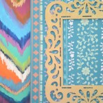 Wooden Frame Stencilled Canvas – Plus a Giveaway