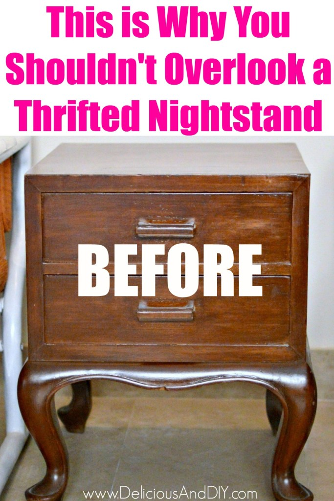 thrifted nightstand