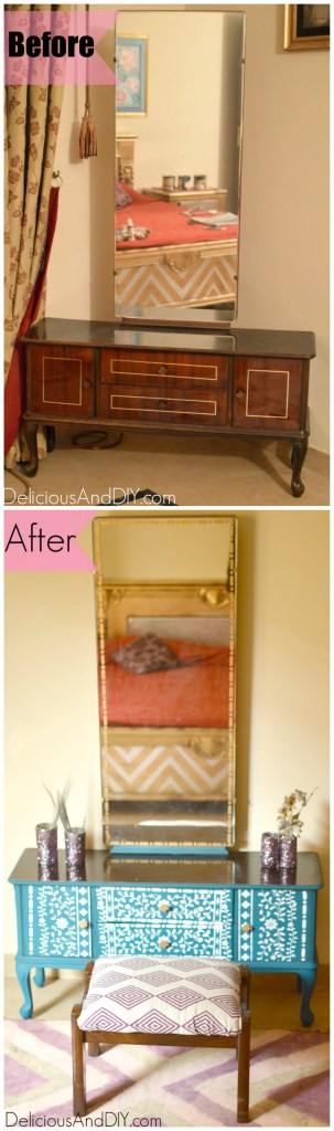 Dresser Makeover - Delicious And DIY