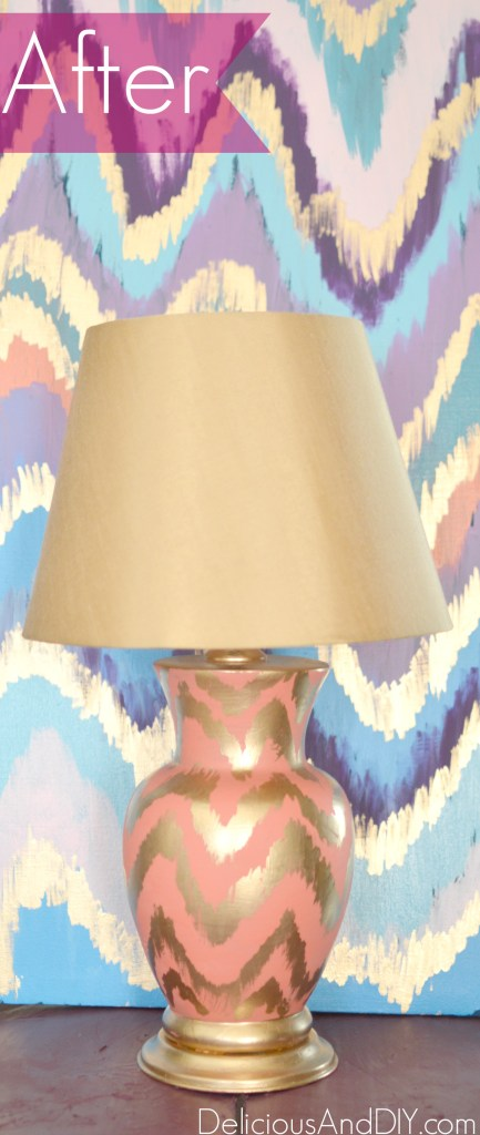 Ikat Chevron Lamp - Delicious And DIY