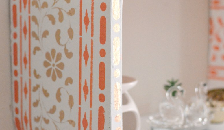 Stencilled Wall Shelf Makeover