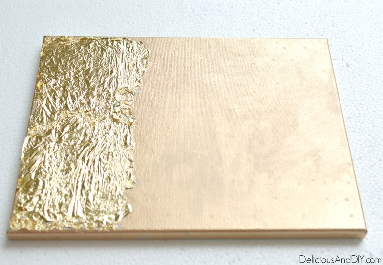 Rose And Gold Foil Art - Delicious And DIY