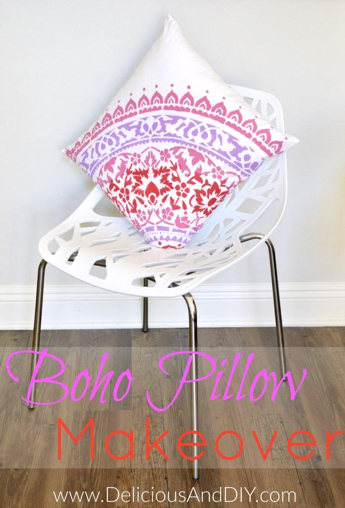 Boho Pillow Makoever - Delicious And DIY