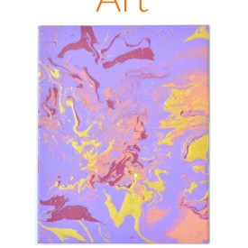 Purple Marbled Art