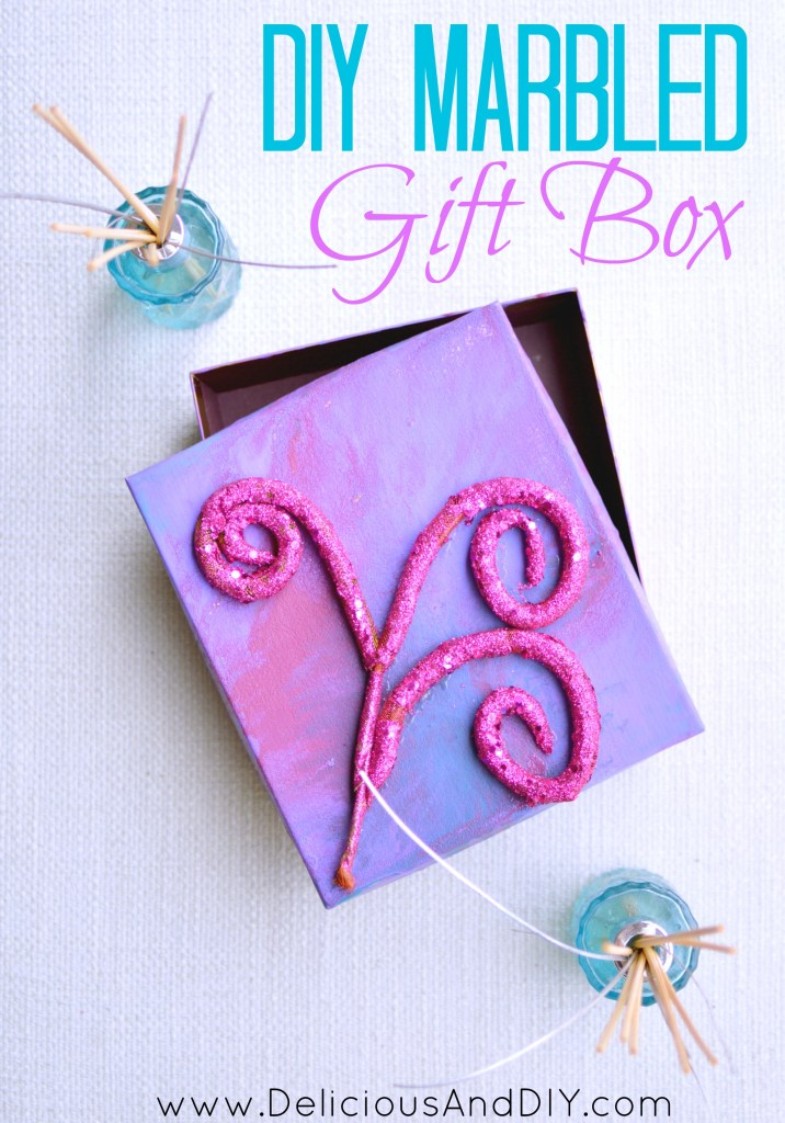 DIY Marbled Gift Box - Delicious And DIY