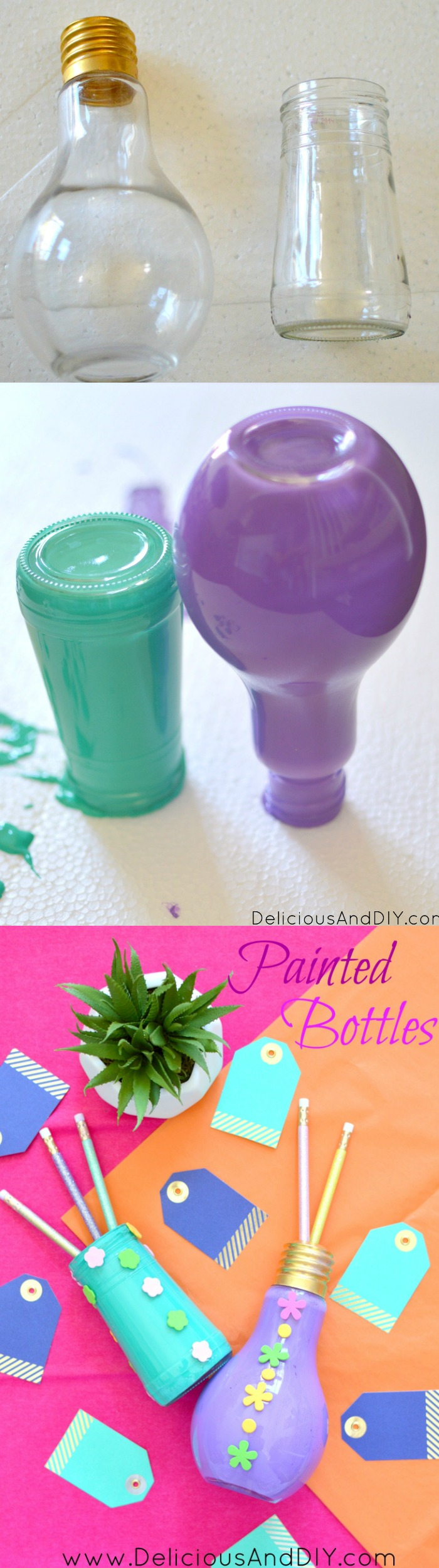 Recycle those empty bottles by this super simple Painted Bottle Technique  Create gorgeous painted bottles  Recycled bottles  Upcycled bottles  Bottle Craft Ideas  Painted Bottles DIY