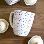 Hand Painted Floral Mug