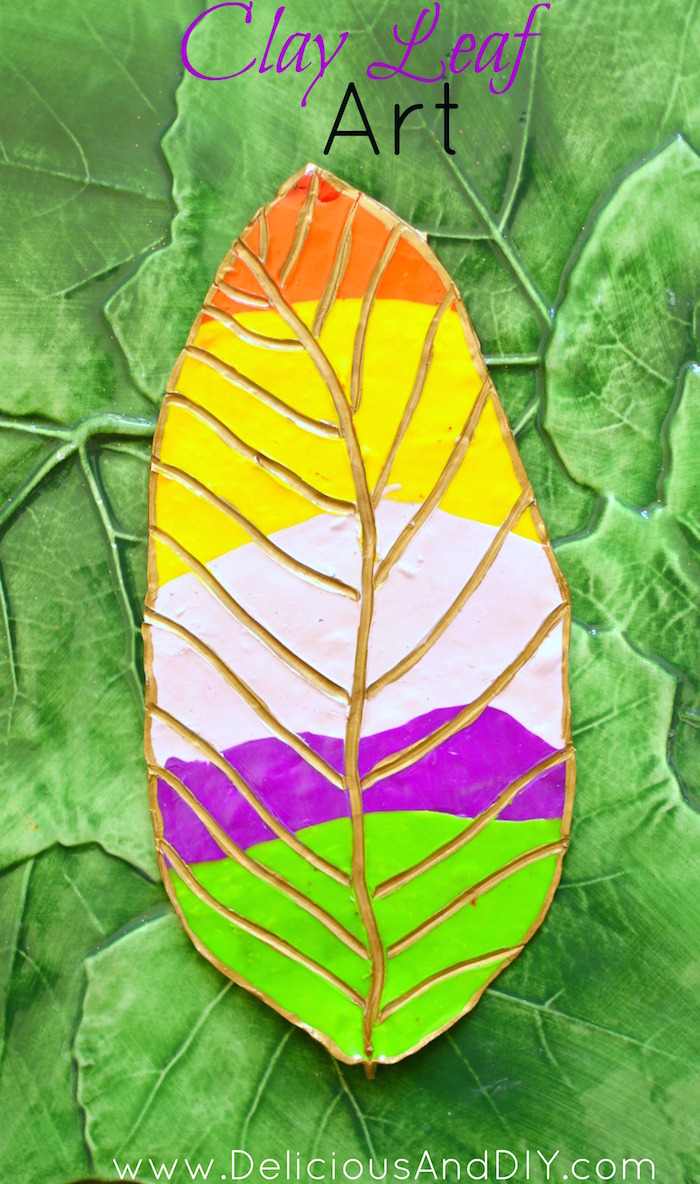 Clay Leaf Decoration - Delicious And DIY