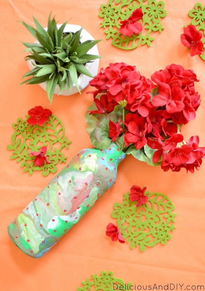 clay bottle vase
