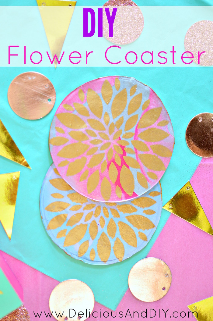 DIY Clay Flower Coaster| Stenciled Coaster| Easy DIY Coaster Ideas| Flower Coaster Ideas| DIY Crafts| Handmade Coaster Ideas| Budget Friendly Craft Projects| Home Decor Ideas| Clay Coaster