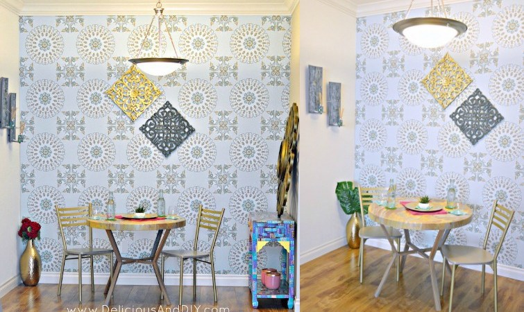 Dining Room Reveal Part 1 {Using Removable Wallpaper}