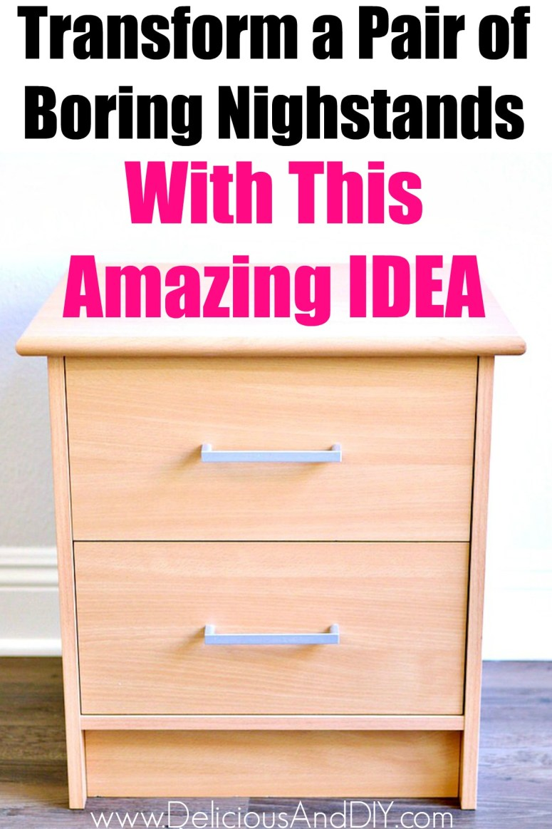 Two Drawer Cabinet Nightstand