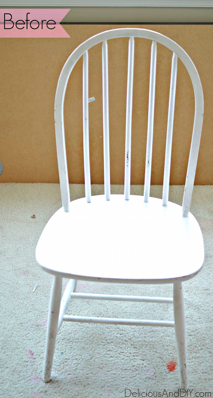 Makeover A Wooden Chair Using Only Masking Tape| Geometric Pattern Wooden  Chair| Masking Tape