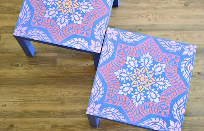 Ikea Lack Side Table Makeover
