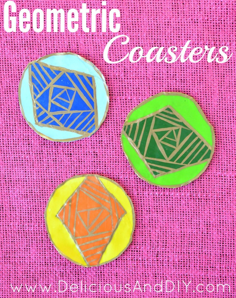 Geometric Clay Coasters