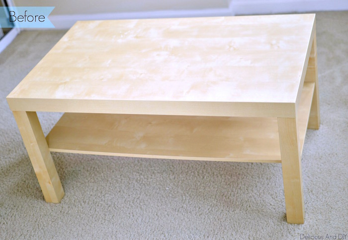 IKEA Coffee Table Makeover Delicious And DIY