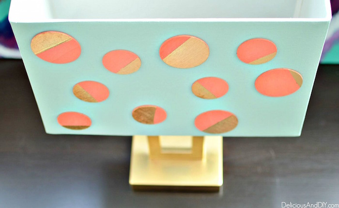Turn your old lamps into a piece of Art using just paint and Wood pieces and transform your boring lamp instantly| Home Decoration| DIY Crafts| Wood Pieces Ideas| Polka Dot Lamp Makeover| Handpainted Lamp| Polka Dot trend| Gold Lamp Makeover| Thrifty Home Decor Ideas| Recycle| Upcycled