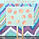 Polka Dot Lamp Makeover