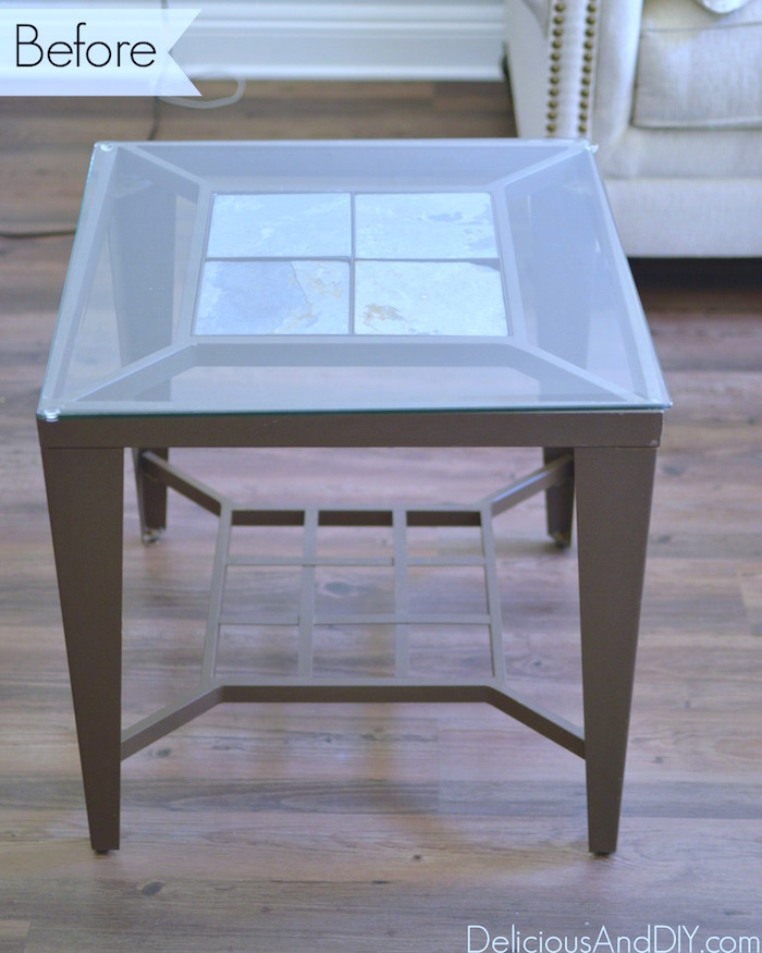 Genial Refinished End Tables| Home Decor| Ombre Flowers| Gold Dipped Legs| Side  Table