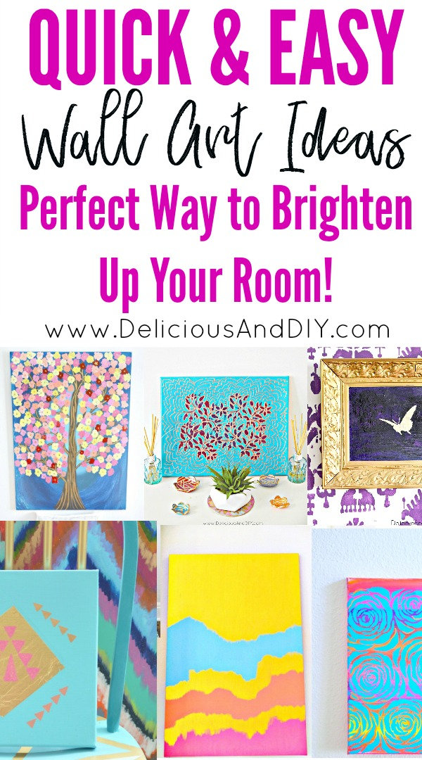 Quick and Easy Wall Art Ideas to Brighten Up Any Room| Painted Canvas Art, Wall Art Ideas, Home Decor, Bright and Colorful Wall Art Ideas, Gallery Wall Ideas, Easy Handpainted Wall Art Ideas, Bright Colored Art, DIY Crafts