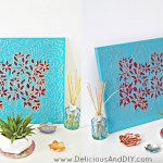 Stenciled Floral Wall Art