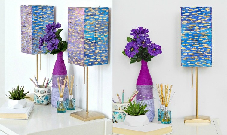 IKEA Lamp Makeover Using Watercolor Paints