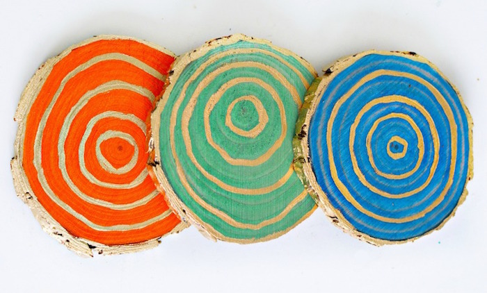 Stained Wood Coasters