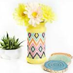 Decoupaged Flower Vase