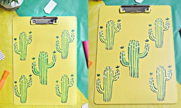DIY Cactus Clipboard