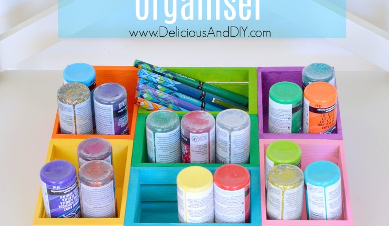DIY Mini Wood Crates Organizer