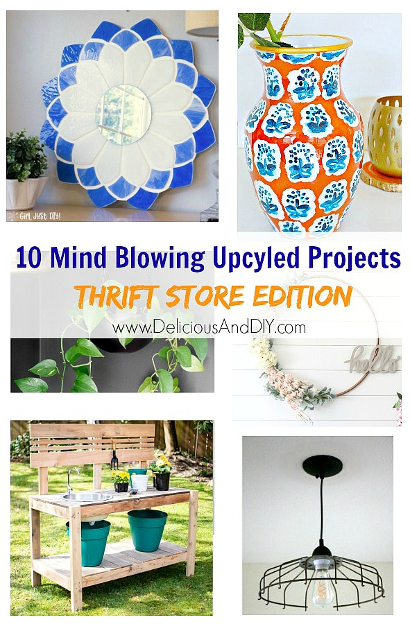 These 10 Mind Blowing Upcycled Projects will surely blow your mind using items from the thrift store| Thrifted DIY Projects