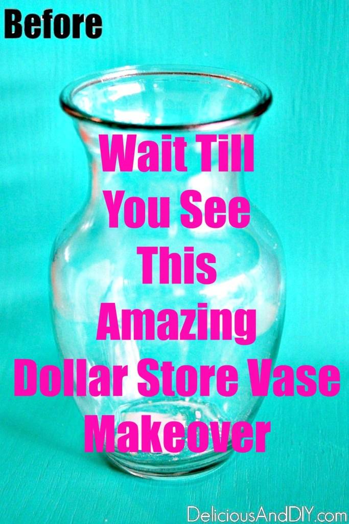 plain dollar store vase