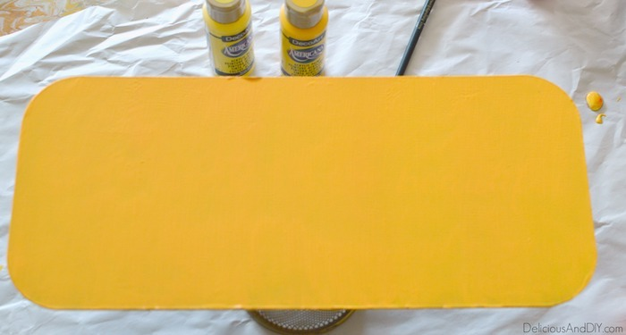 yellow painted canvas