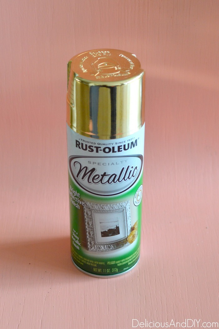 metallic gold spray paint