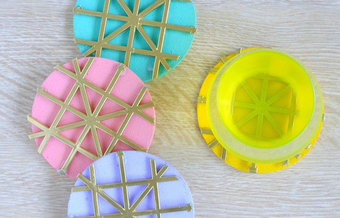 These DIY Personalized Textured Cork Coasters are a great way to add color in your home decor space. Not only are they really easy to make but versatile as well. These are also a great gift Idea as well.