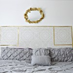 DIY Removable Wallpaper Headboard
