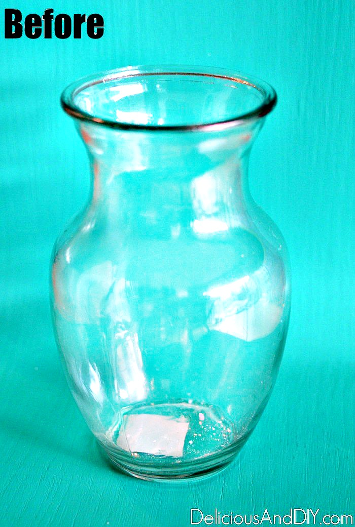 A plain Dollar Store Vase before it is painted