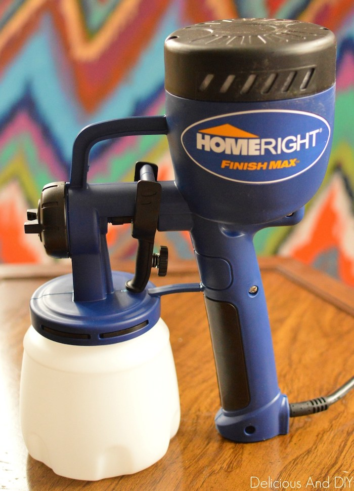 HomeRight Finish Max paint sprayer used to paint furniture