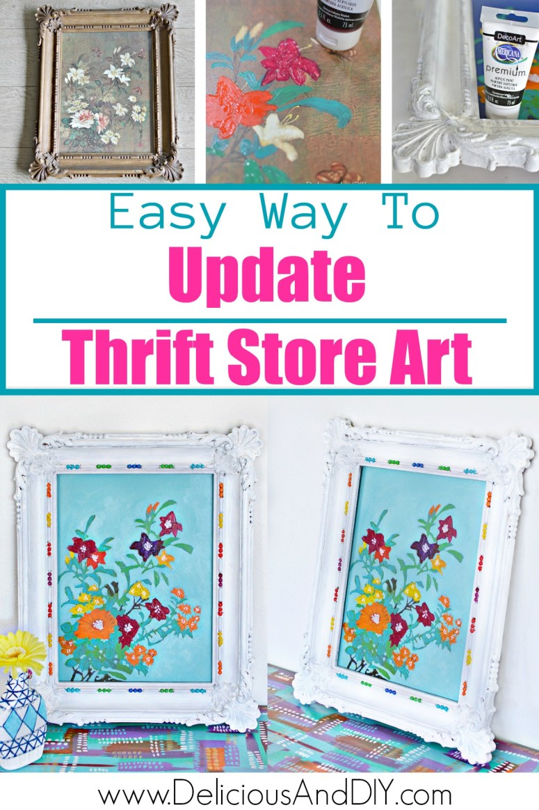 Easy Way to Update Thrift Store Wall Art