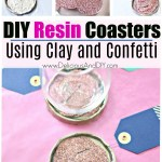 DIY Resin Coasters – Using Clay and Confetti