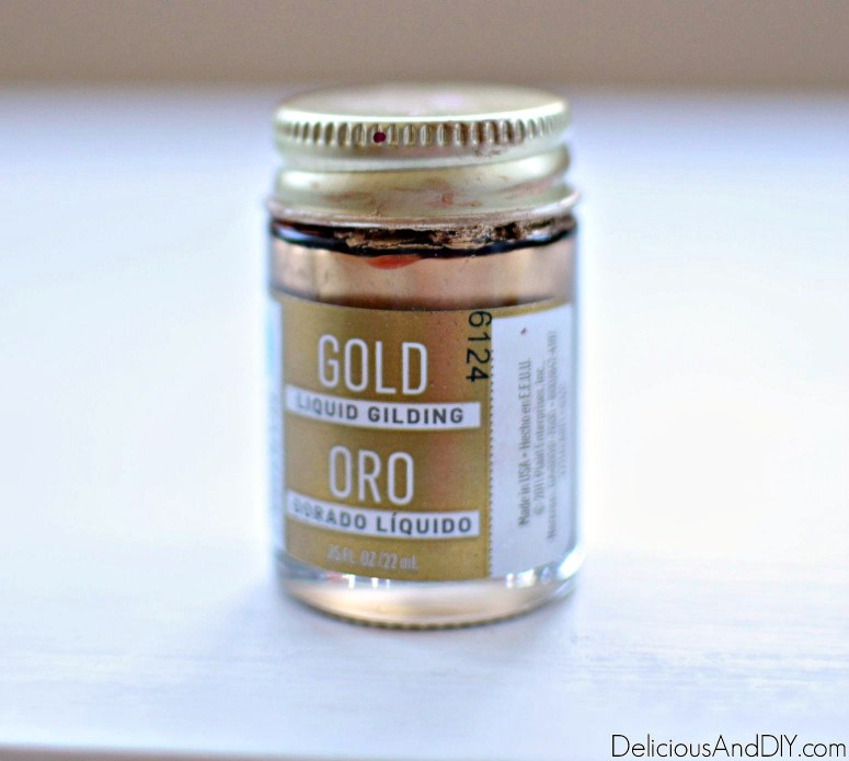 Gold Liquid Gilding used on thrifted nightstand