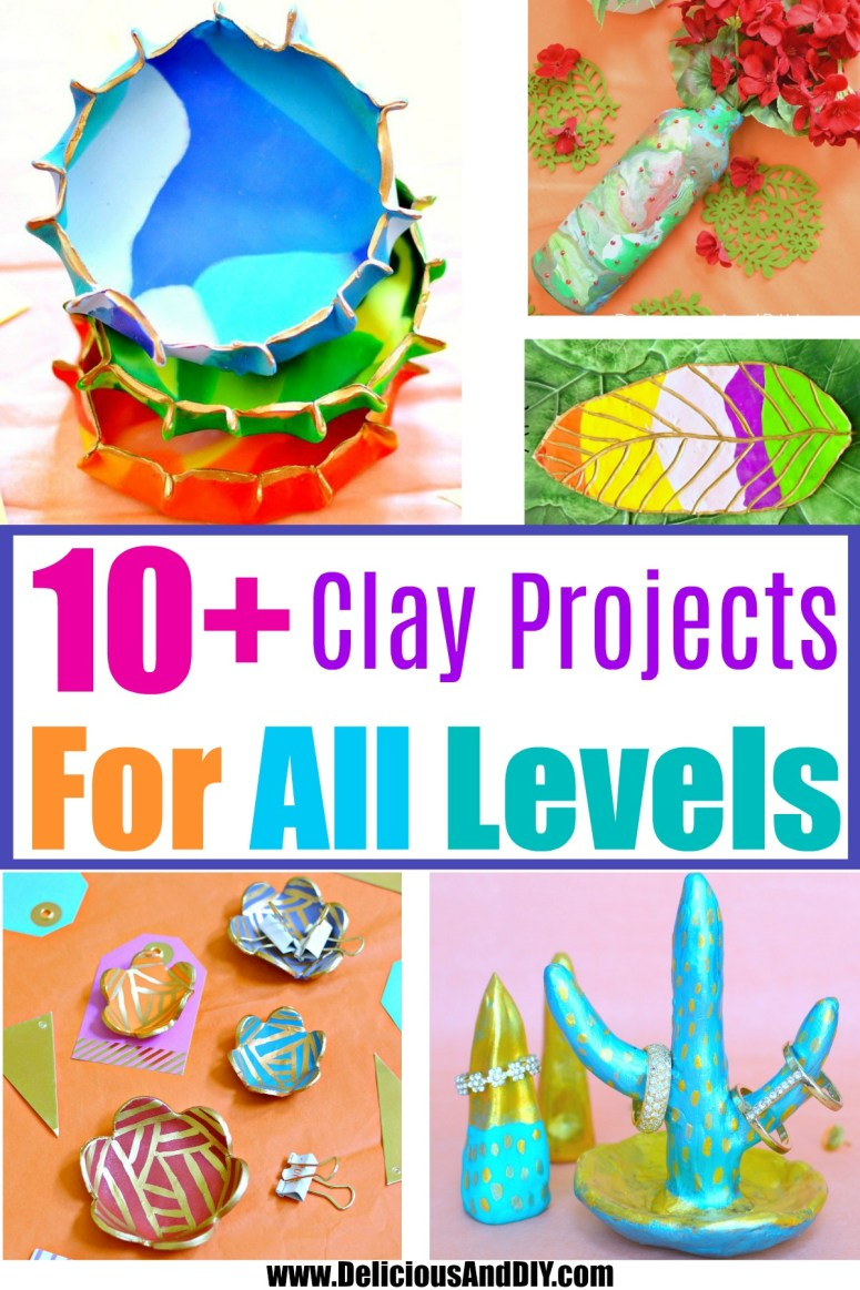 compilation of ten easy clay projects for all skill levels