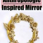 DIY Anthropologie Inspired Gold Flower Mirror
