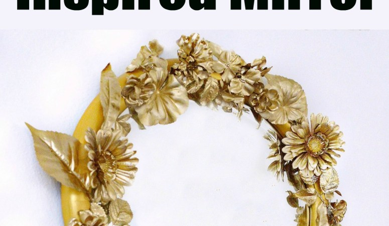 DIY Anthropologie Inspired Gold Flower Mirror