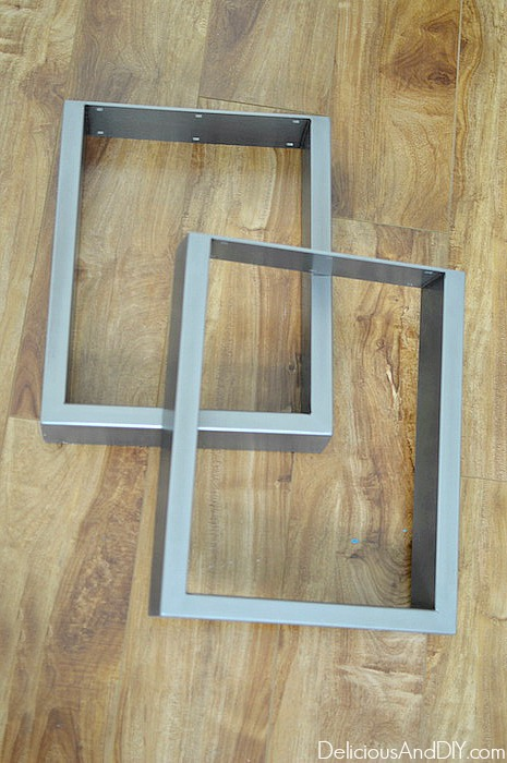 Square Legs for Outdoor Bench